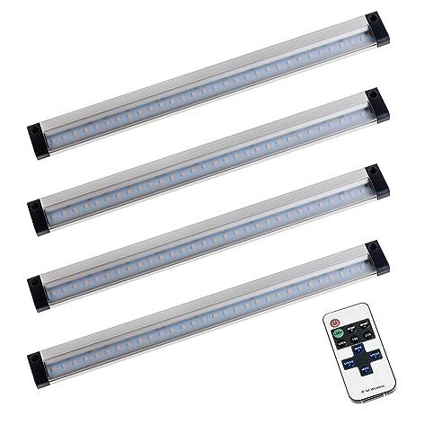 SEBSON LED Lichtleiste warmweiß, Blinkmodi, Fernbedienung, dimmbar ...