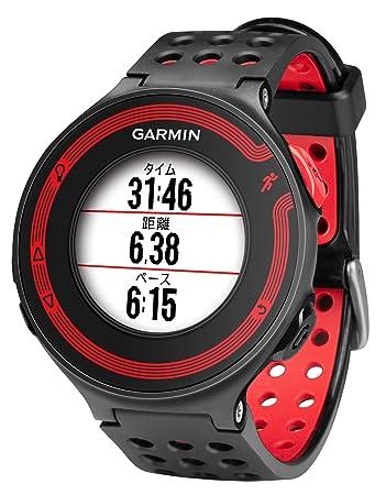 90fe73a927 GARMIN(ガーミン) ランニングウォッチ 時計 GPS ForeAthlete 220J ブラック/レッド Bluetooth対応 【