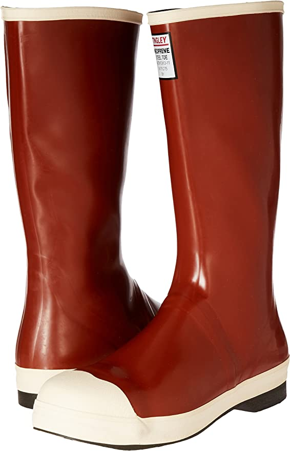 "Sz 7 16/"" H PR Stl TINGLEY MB921B Pylon Knee Boots Br Red"