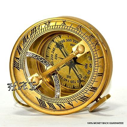 bc728badcdca Safa - Brújula náutica de latón Estilo Militar o náutico Reloj de Bolsillo  Estilo Reloj de