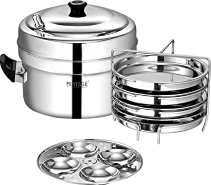 f11ffd56d81 Buy DHOKLA N IDLI Maker (Induction Compatible) Aroma Online at Low Prices  in India - Amazon.in