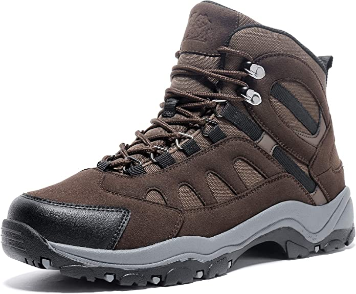 Camel Waterproof Hiking Shoes for Men Shockproof Non-Slip Warm High-top Outdoor