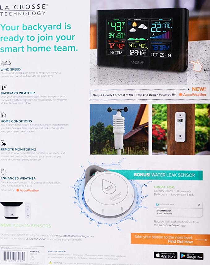 La Crosse Tech Wi-Fi Wind & Weather Station with AccuWeather Forecast