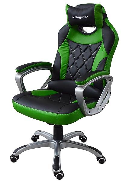 Motoracer Pro Edition videojuegos silla | el mejor ergonómico silla de Racing para juegos de vídeo | Racing Estilo Gamer ...