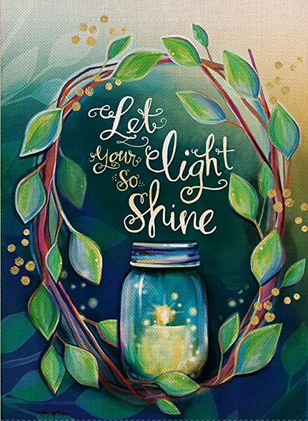 Amazoncom Dyrenson Home Decorative Let Your Light So Shine Garden