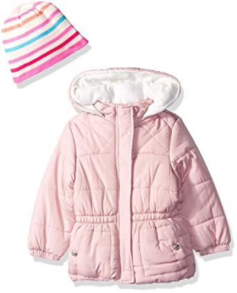 6c77e12e Amazon.com: Pink Platinum Girls' Quilted Puffer with Accessory: Clothing