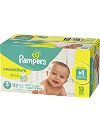 Diapers Size 3, 112 Count - Pampers Swaddlers Disposable Baby Diapers, Giant