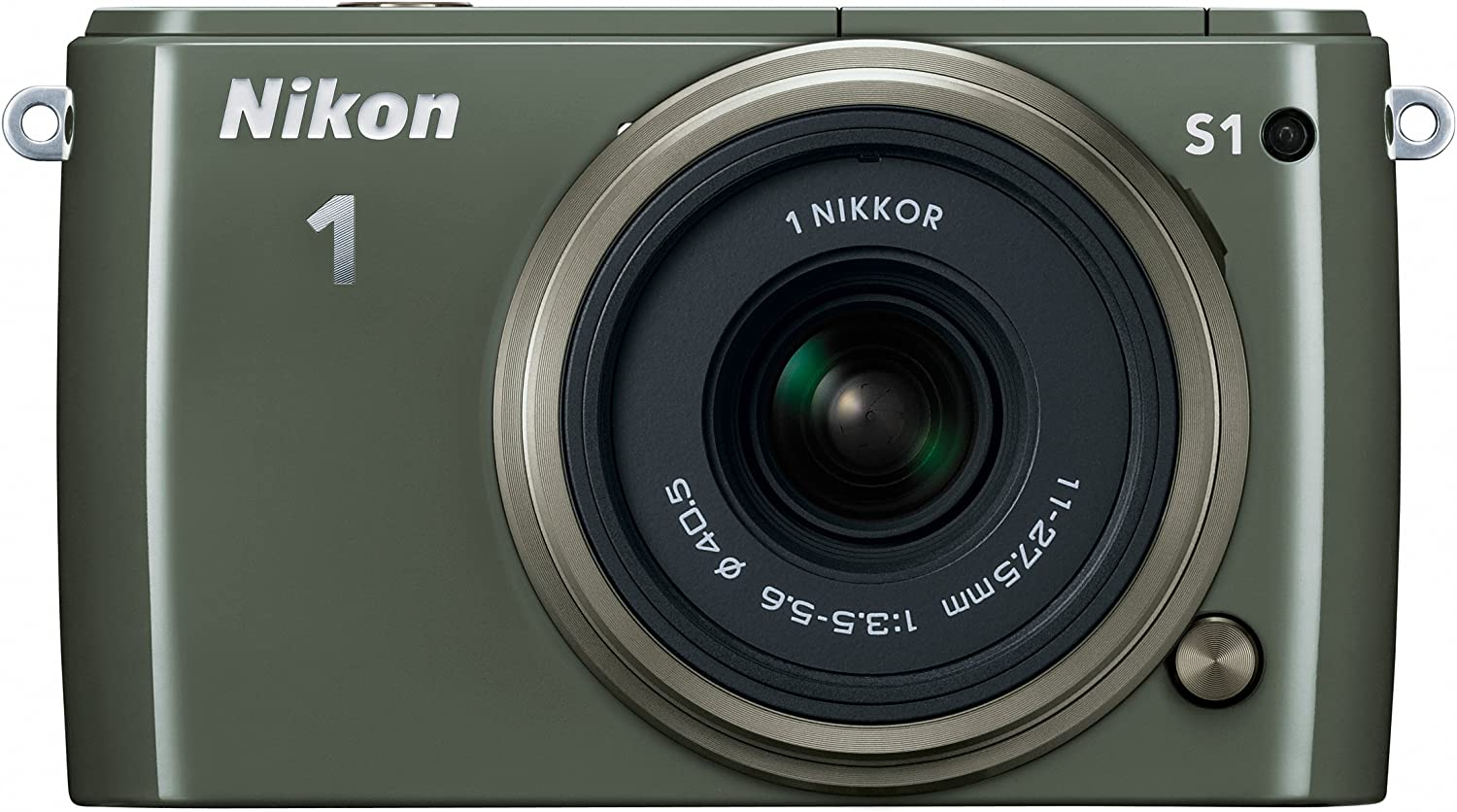 Nikon 1 S1 10.1 MP HD Digital Camera with 11-27.5mm VR 1 NIKKOR Lens (Khaki)
