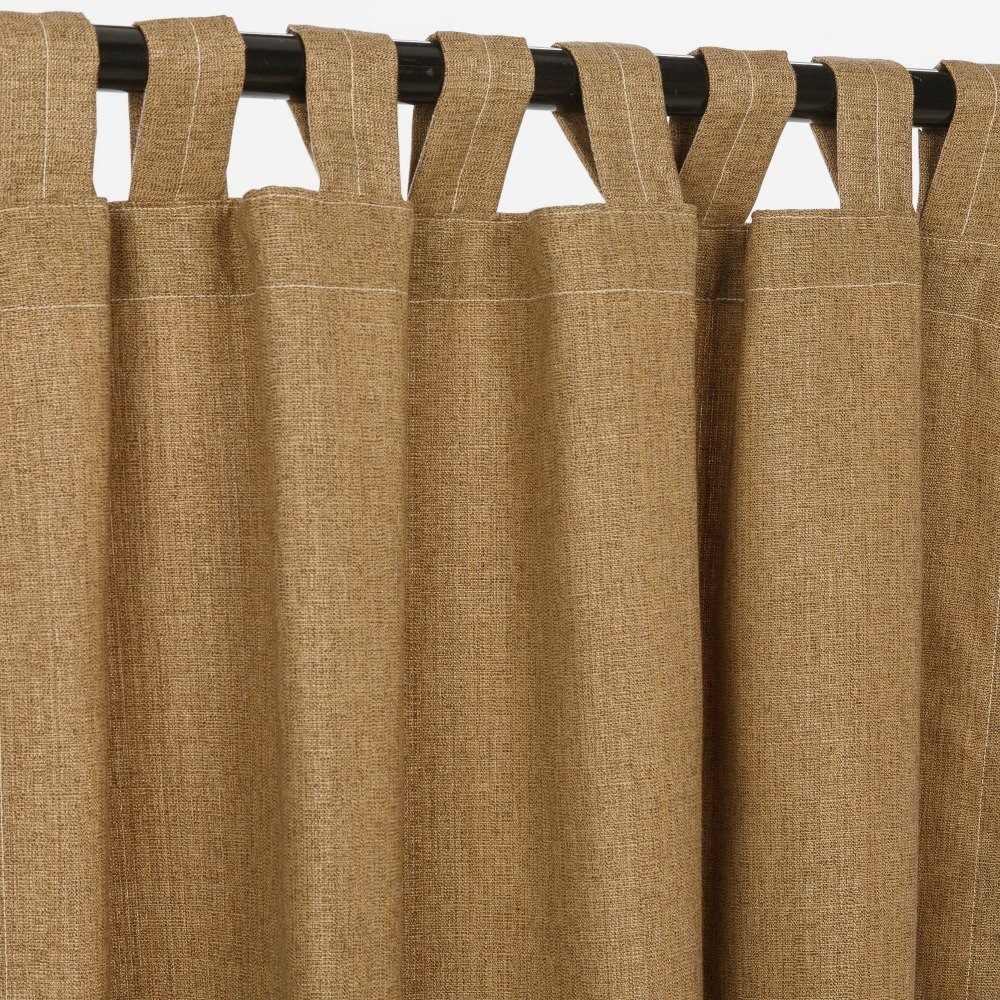 Sunbrella Outdoor Linen Curtain with Tab Top by Pawleys Island Hammocks