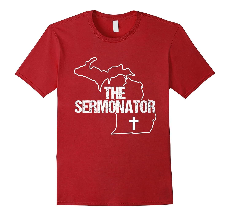Michigan Sermonator Minister Preacher Priest Funny T-Shirt 1-TD