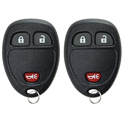 KeylessOption Keyless Entry Remote Control Car Key Fob Replacement for 15777636 (Pack of 2): Automotive
