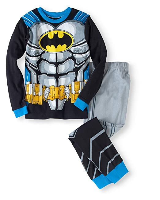 5d1721765 Amazon.com  DC Comics Boys Batman Cotton Cape Crusader Pajamas