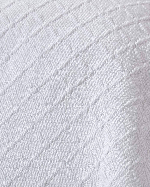 Couvre-lit cr/ème matelass/é Motif en Relief arabesques Florales 180 x 260 cm HOMESCAPES