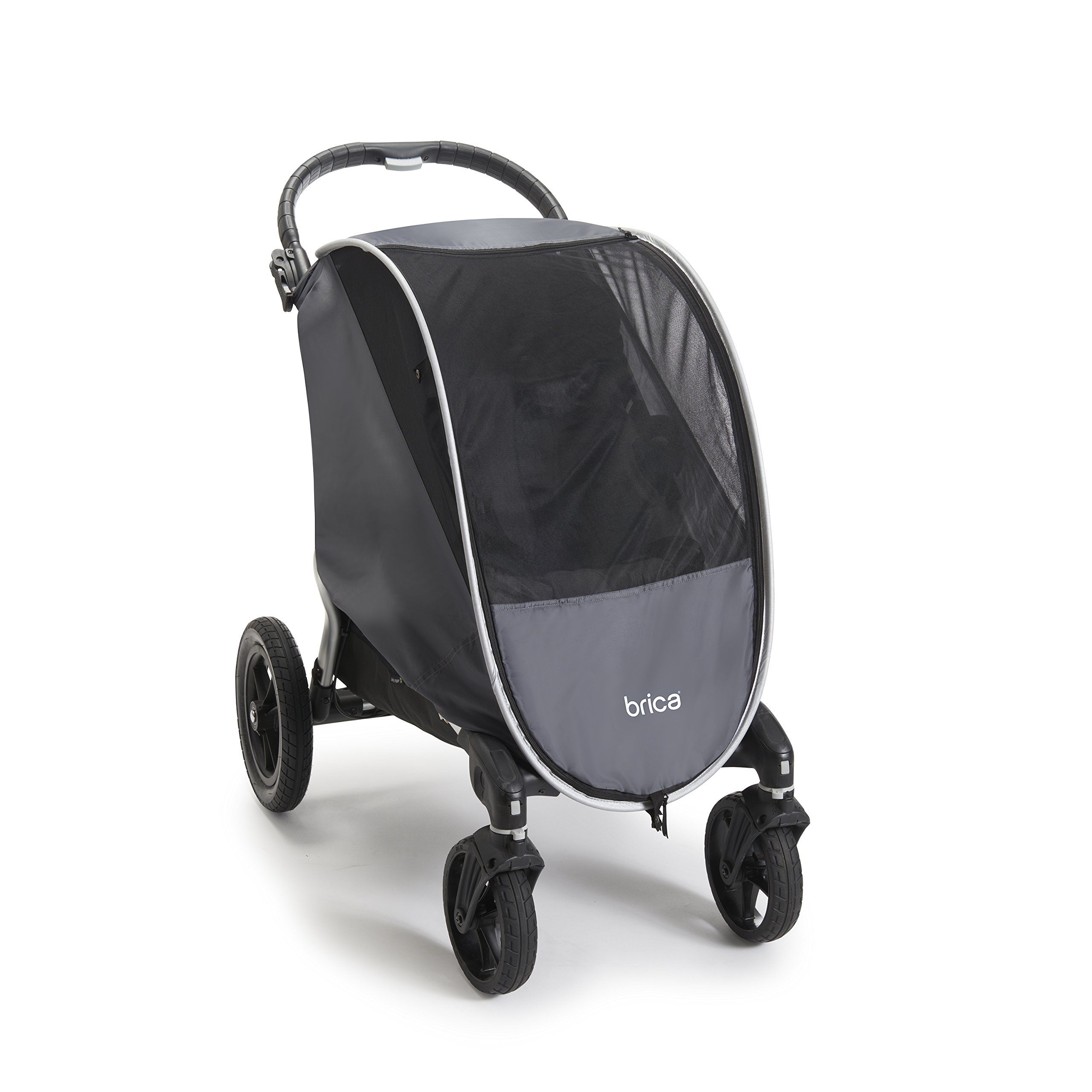 Munchkin Brica Shield Stroller Cover, Helps Block UVA/UVB Rays, Grey by Munchkin (Image #2)