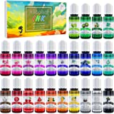 Alcohol Ink Set - 24 Vibrant Colors Alcohol-based Ink for Resin Petri Dish Making, Epoxy Resin Painting - Concentrated Alcoho