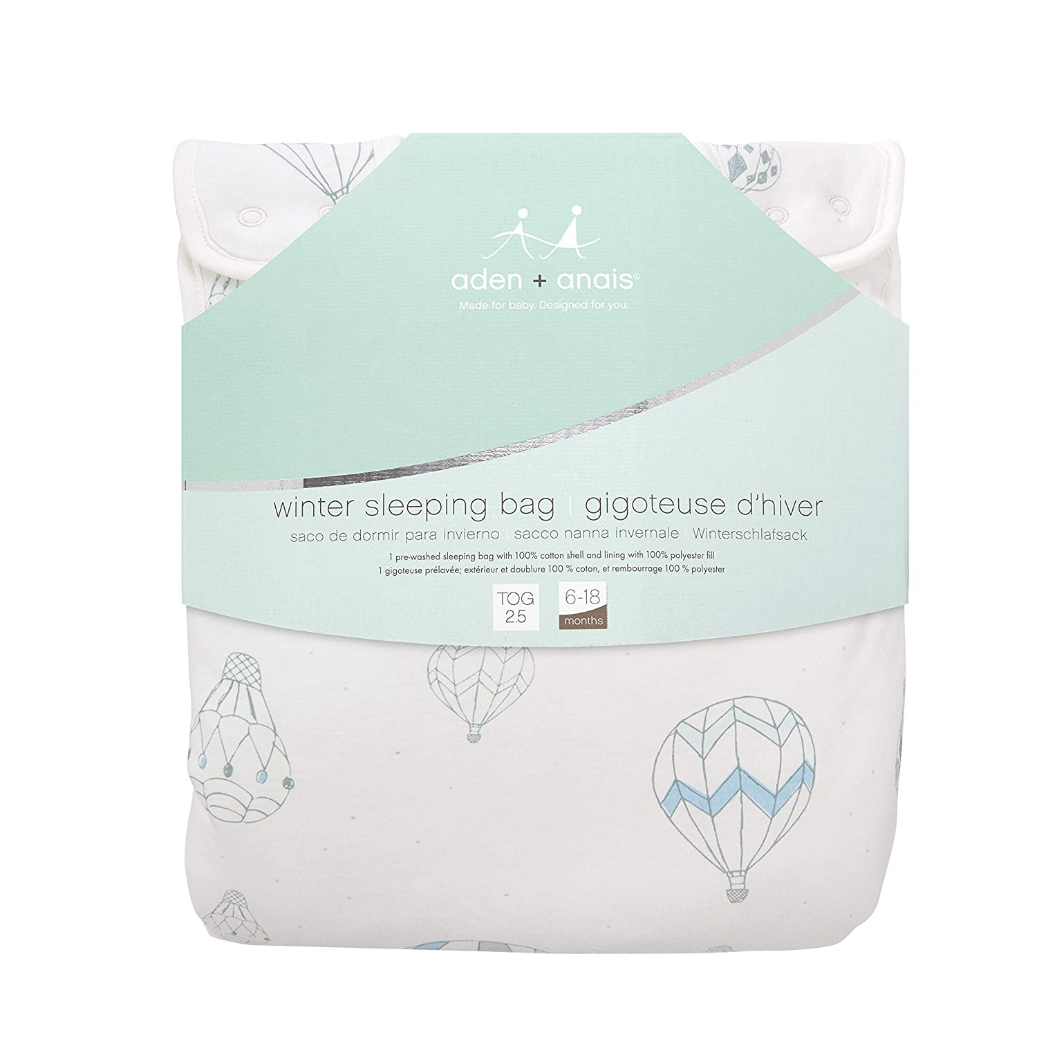 Amazon.com: aden + anais Winter Sleeping Bag - Night Sky Reverie Up - 6-18m: Baby