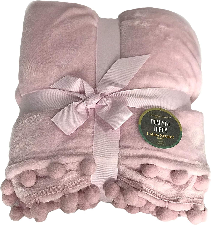 H&H Blush - Manta de forro polar para sofá, cama, para viaje, no trituración, para todas las estaciones, 150 x 200 cm