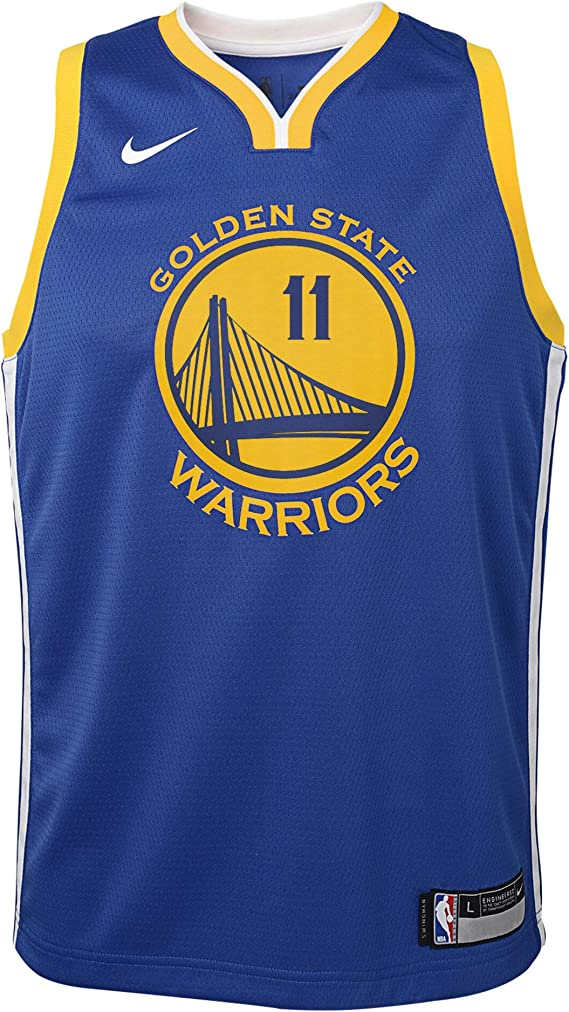 Nike Klay Thompson Golden State Warriors NBA Youth 8-20 Royal Blue Road Icon Edition Swingman Jersey