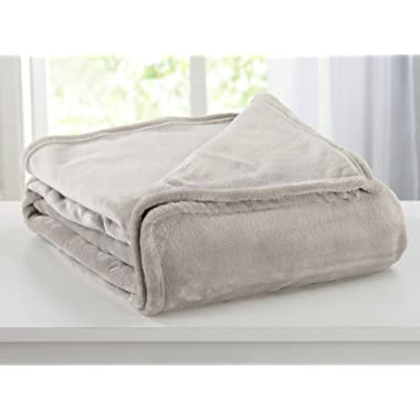 Home Fashion Designs Ultra Velvet Plush Fleece All-Season Super Soft Luxury Bed Blanket. Lightweight and Warm for Ultimate Comfort Brand. (King, Grey Morn)