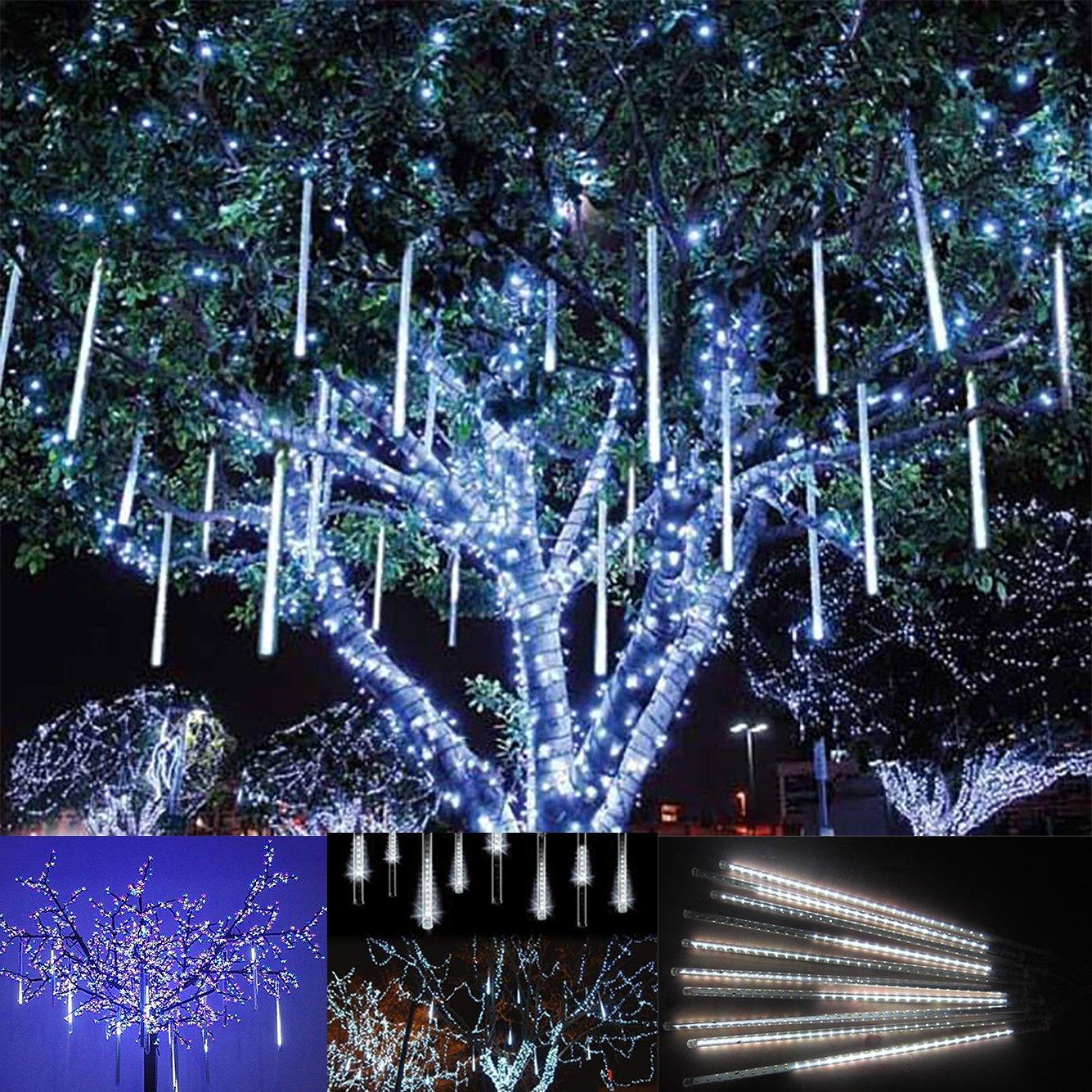 luce natale led pioggia nevicata - victorstar 30cm 10 tubi 360 led ... - Illuminazione Alberi Natale