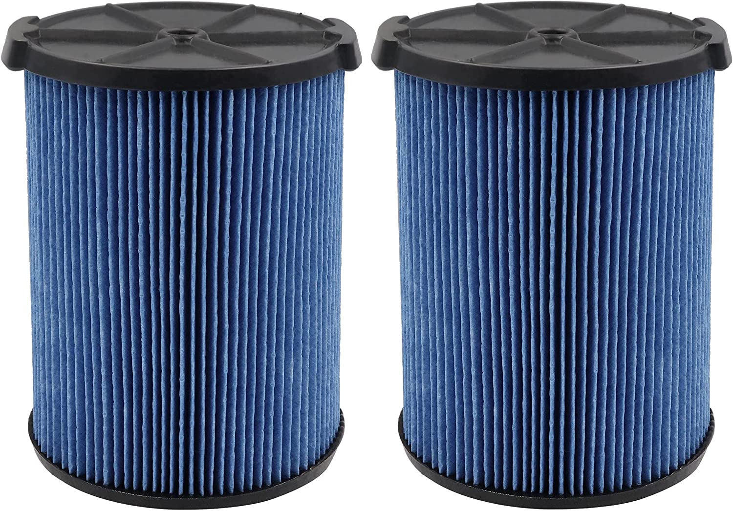 VF5000 Replacement Filter 3-Layer Pleated Paper Vacuum Filter Fits for Ridgid 5-20 Gallon Wet Dry Vacuums,2 Pack