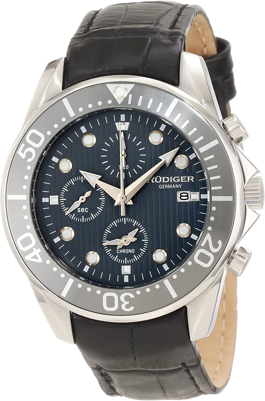 Rudiger Men s R2001-04-011L Chemnitz Grey Chronograph Watch