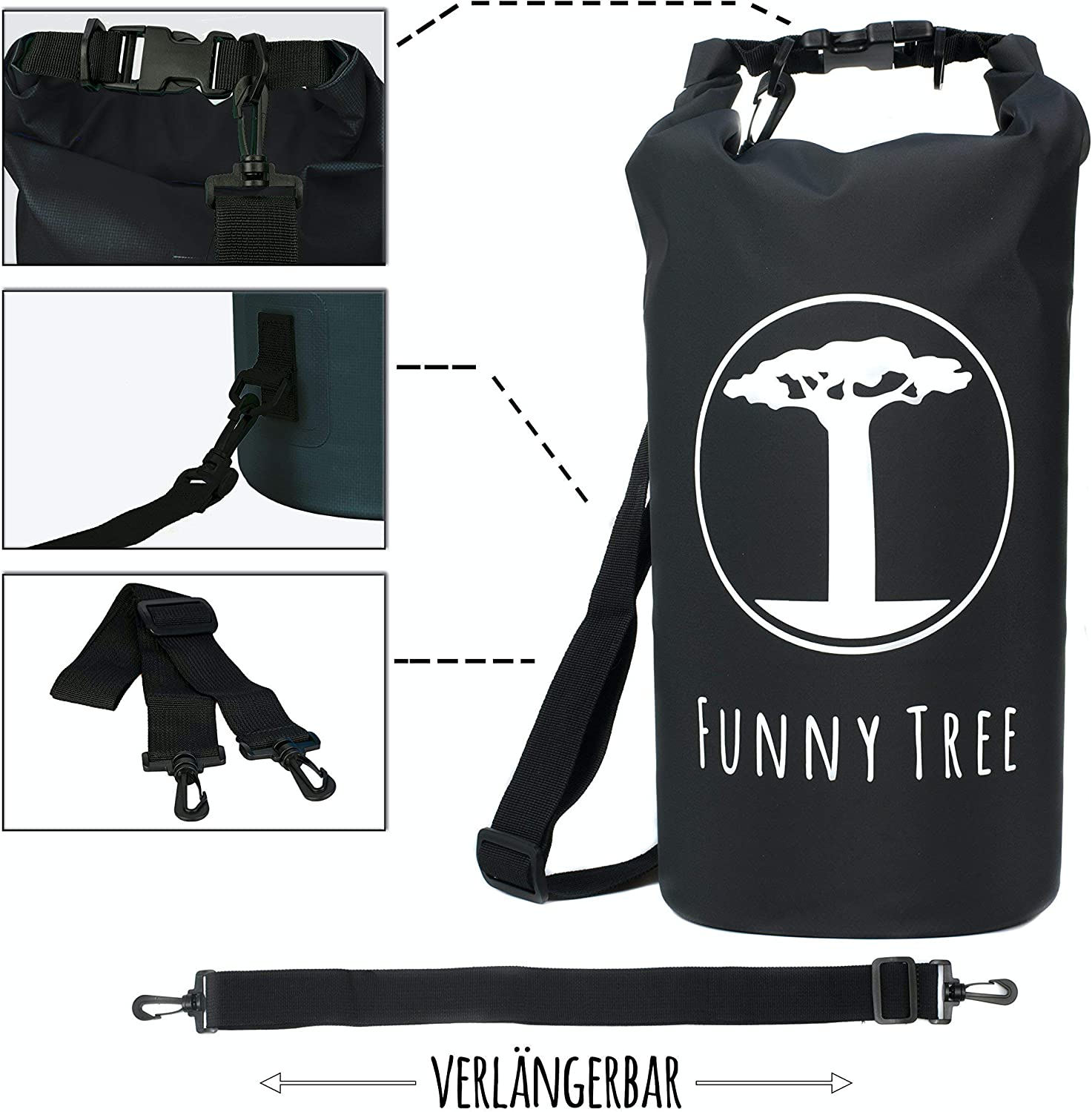 Funny Tree Dry Bag Waterproof Ipx6 Optimised Rucksack 30 L 20 L 10 L Camping Accessories Dinghy Kayak Rafting Canoe Swimming Beach Boating Camping Diving Sport Freizeit