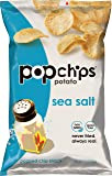 Popchips Potato Chips, Sea Salt Potato Chips, 6 Count (3.5 oz Bags), Gluten Free, Low Fat, No Artificial Flavoring…
