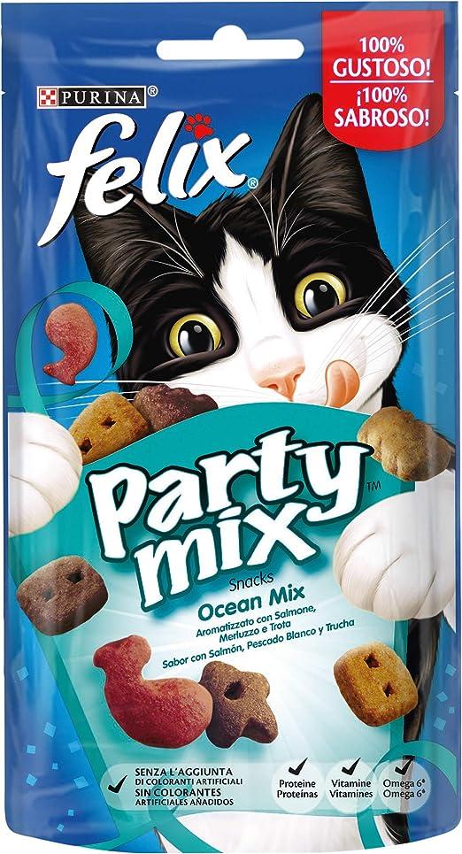 Purina Felix Party Mix Oceano Snacks, golosinas y chuches para ...