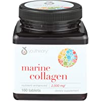 Youtheory, Collagen Marine Type 1 and 3, 160 Tablets