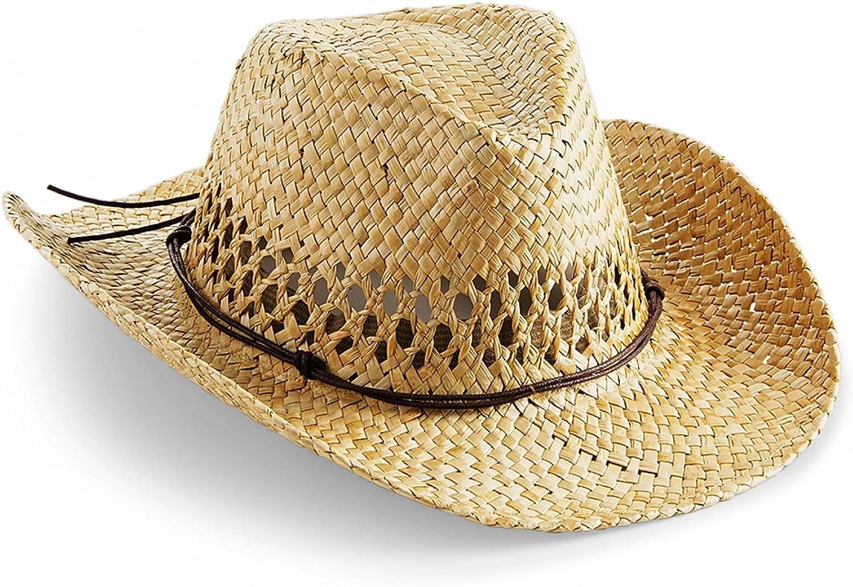 EOZY Eltern-Kind Cowboyhut Strohhut Sommerhut Westernhut mit KinnriemenSonnenhut Outdoor