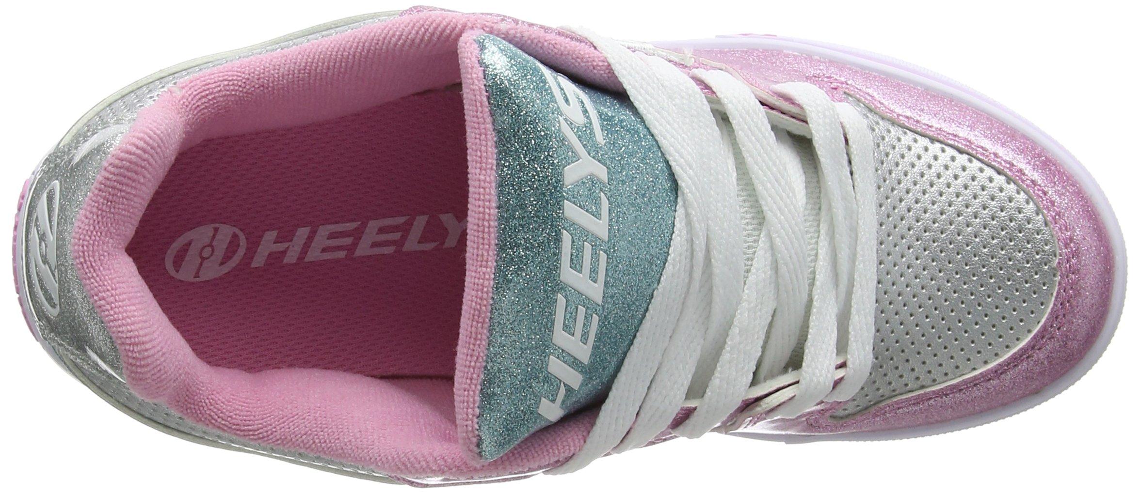 Heelys Girl's Motion Plus (Little Kid/Big Kid/Adult) Silver/Pink/Blue/Glitter Shoe by Heelys (Image #7)