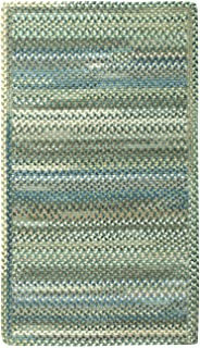 """product image for Capel Rugs Kill Devil Hill Cross Sewn Rectangle Braided Area Rug, 9 x 13"""", Dark Green"""