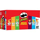 Pringles Snack Stacks Potato Crisps Chips, Flavored Variety Pack, Original, Sour Cream and Onion, Cheddar Cheese, BBQ, Pizza,