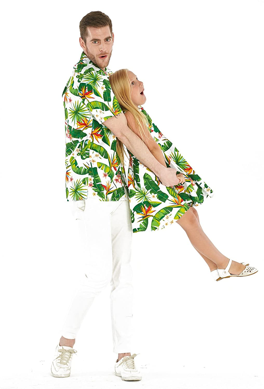 Matching Father Daughter Hawaiian Luau Dance Shirt Vintage Dress Various Patterns