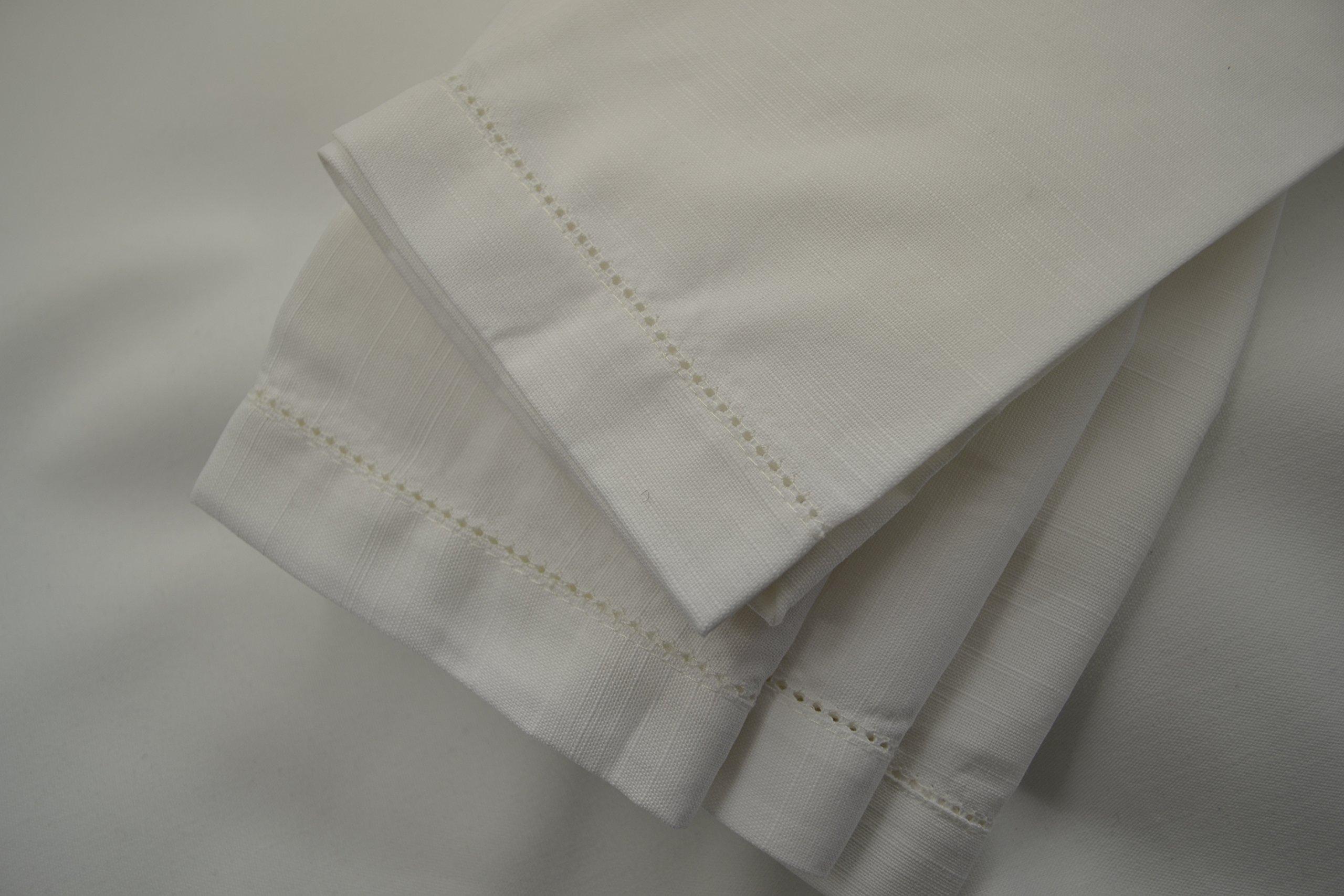 Hemstitch Dinner Napkins White 1 Dozen by Something Different Linen by Something Different Linen (Image #7)