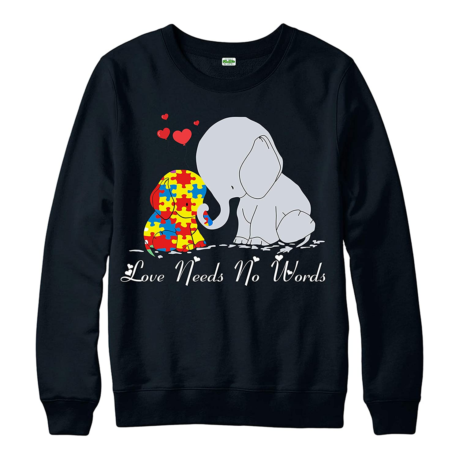 Spoofy Clothing World Autism Awareness Day Jumper Love Needs No Words Autism Awareness Health Awareness Gift Kids /& Adults Size Jumper Top