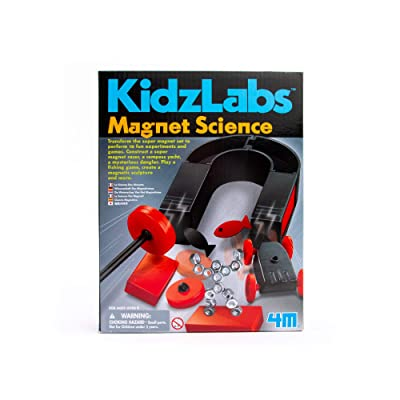 4M Magnet Science Kit - 10 Educational Stem Toy Magnetic Experiments & Games Gift for Kids & Teens, Boys & Girls: Toys & Games