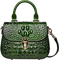 PIJUSHI Leather Crossbody Shoulder Bags for Women Crocodile Satchel Handbag