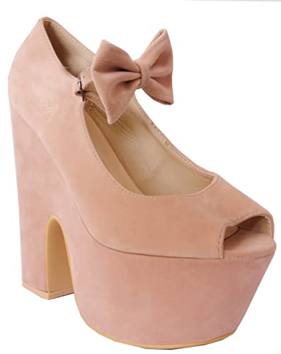 db94912f9b Ladies Womens Coral Pink, Mint Green, Nude, Black, Bow Ankle Straps Chunky