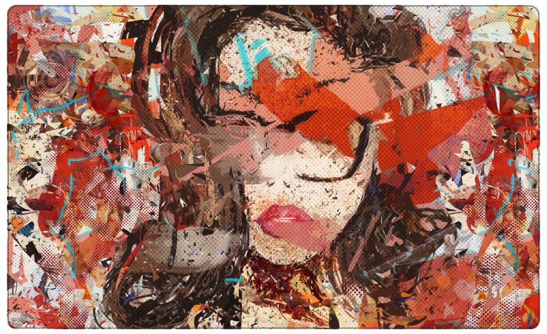 Abstrakt Gesicht Kunstwerk Kunstwerk Kunstwerk Wandtattoo Wandsticker Wandaufkleber R1379 Größe 100 cm x 150 cm d7e716