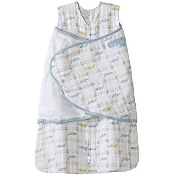 pretty nice 895eb 46065 HALO 100% Cotton Muslin Sleepsack Swaddle, Gator Plaid, Small