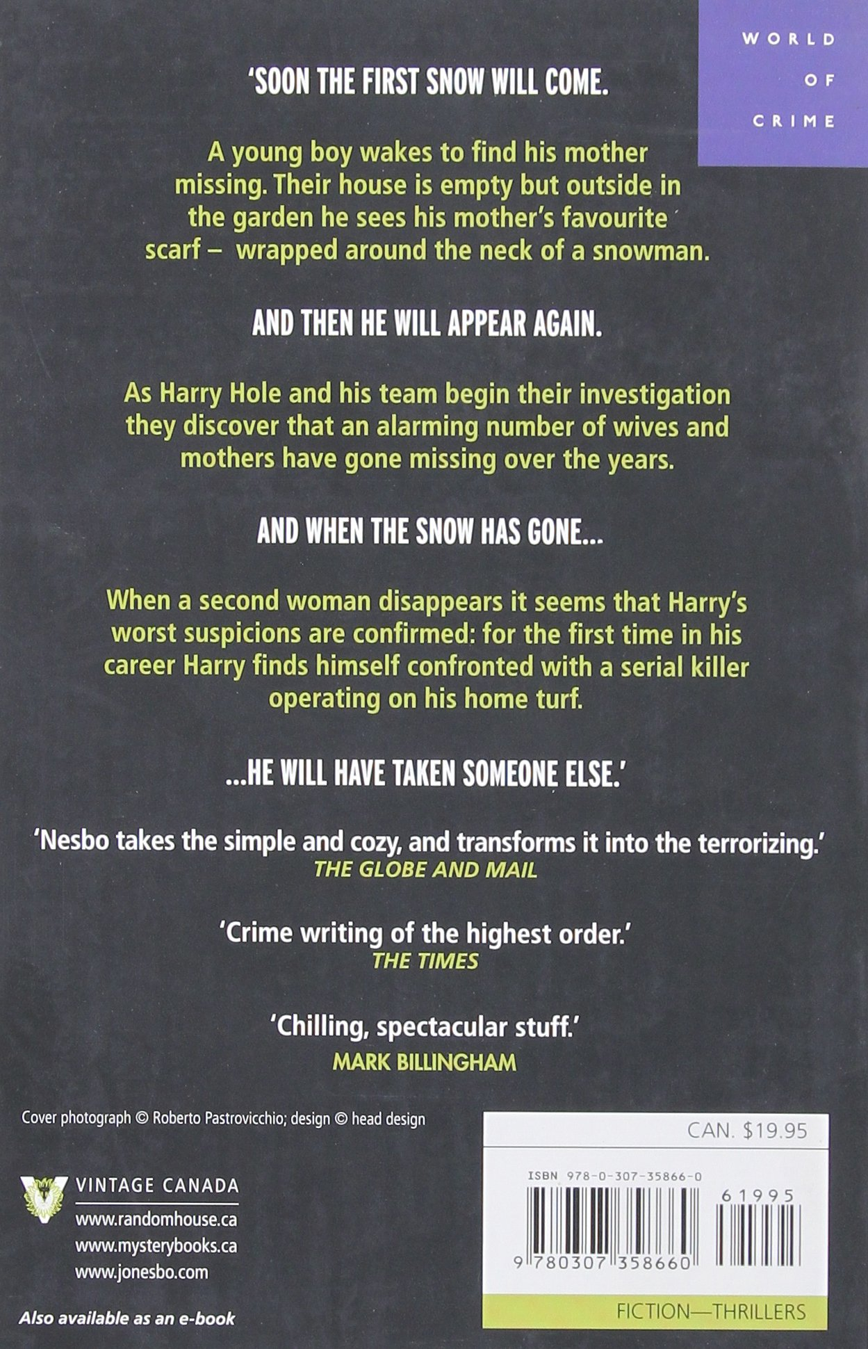 The Snowman (harry Hole Series): Jo Nesbo: 9780307358660: Amazon: Books