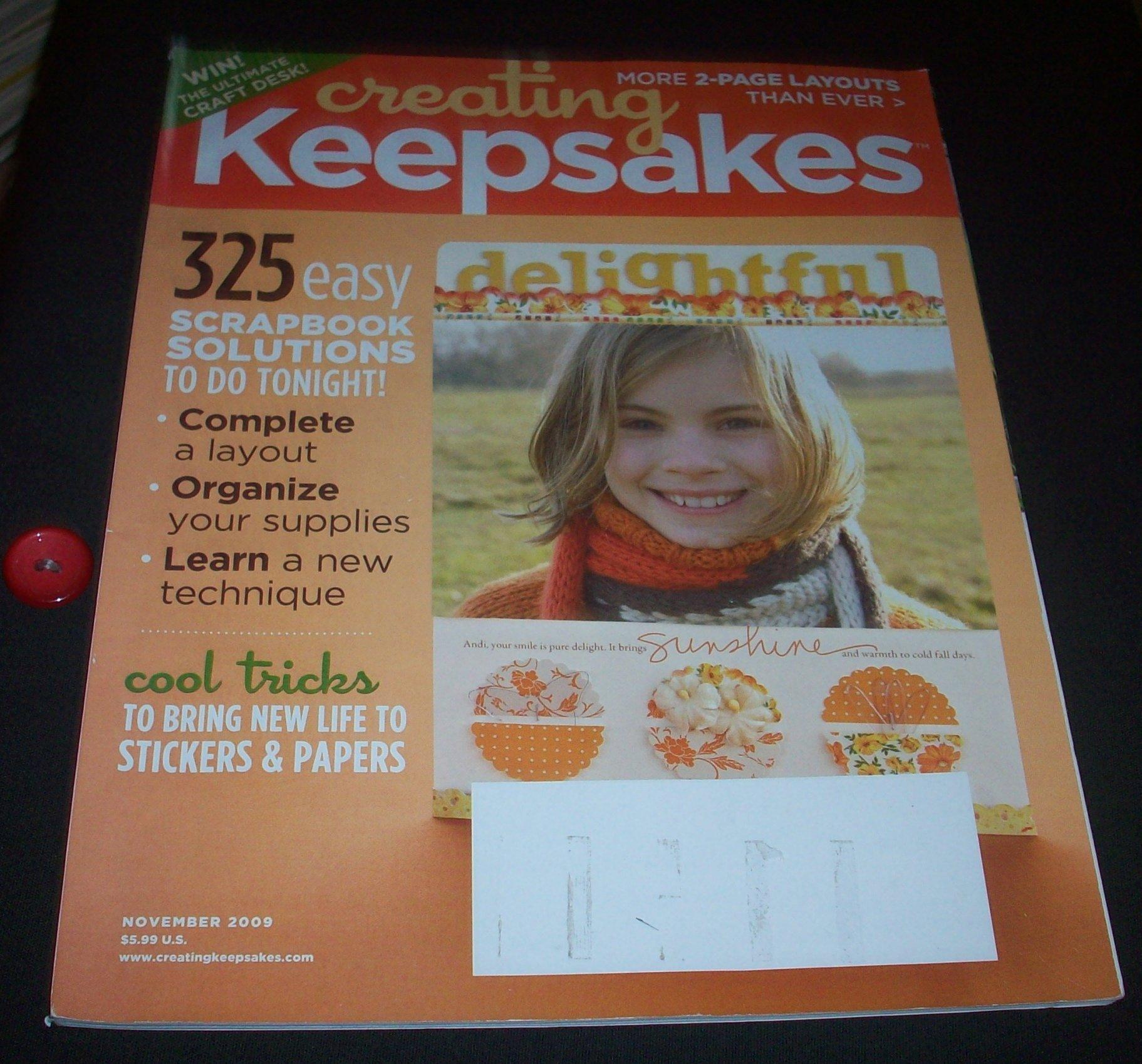 Read Online Creating Keepsakes (November 2009) (Volume 14) ebook