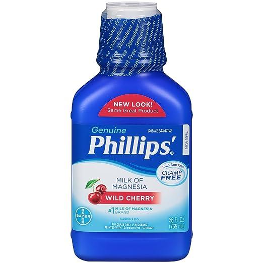 Amazon.com: Phillips Wild Cherry Milk of Magnesia Liquid (Pack of 2) KfF#JDE: Health & Personal Care