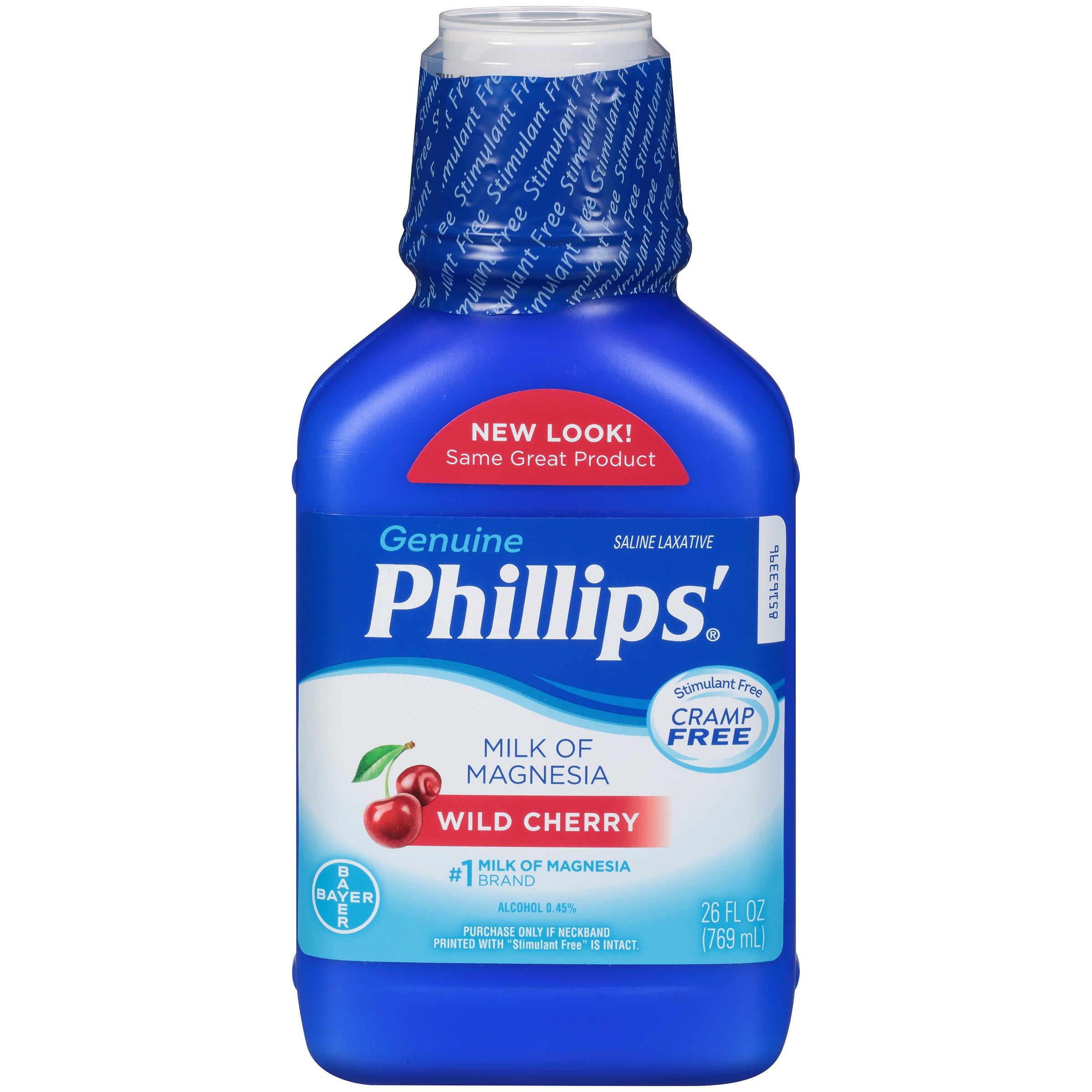 Phillips Milk of Magnesia Laxative (Wild Cherry, 26-Fluid-Ounce Bottle