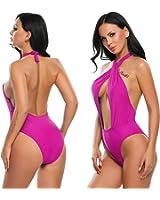 Avidlove Women Halter Swimsuit CrissCross One Piece Monokini Swimwear Bathing Suit Wirefree Padded Beach Wear