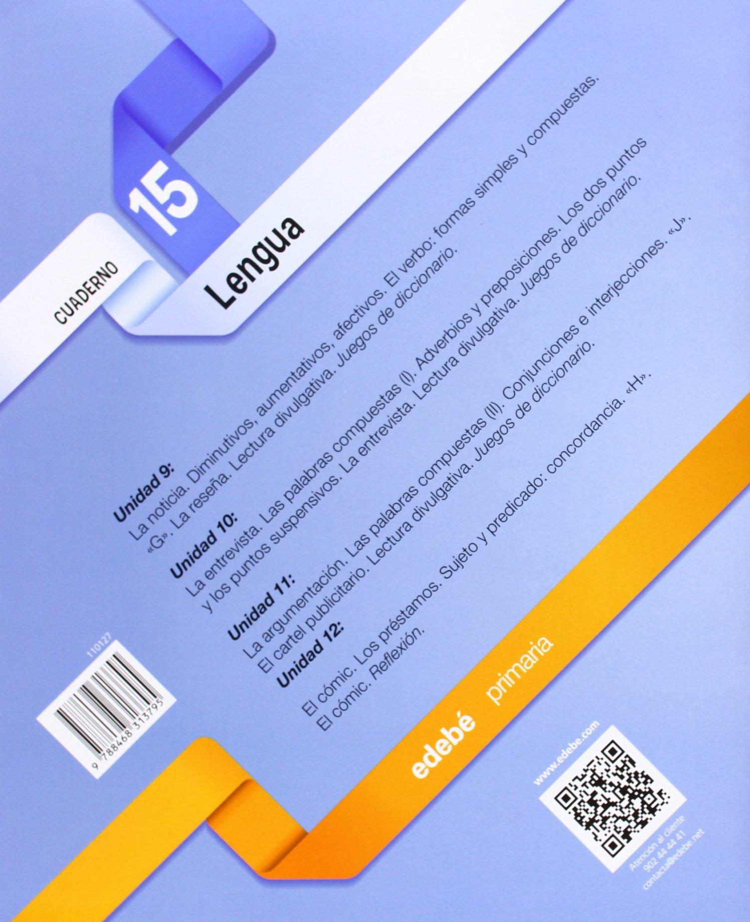 CUADERNO LENGUA 15 - 9788468313795: Amazon.es: Obra Colectiva Edebé: Libros