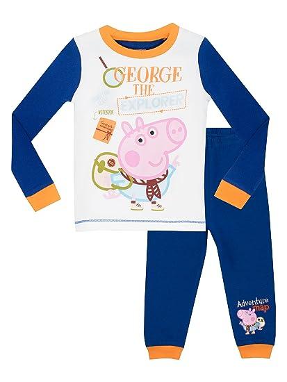 Peppa Pig - Pijama para Niños - George Pig - Ajuste Ceñido - 6 a 7