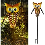 Philonext Solar Lantern Lights, Outdoor Hanging Lantern,Lights Hanging Outdoor, Adorable and Full of Character Owl Solar Ligh